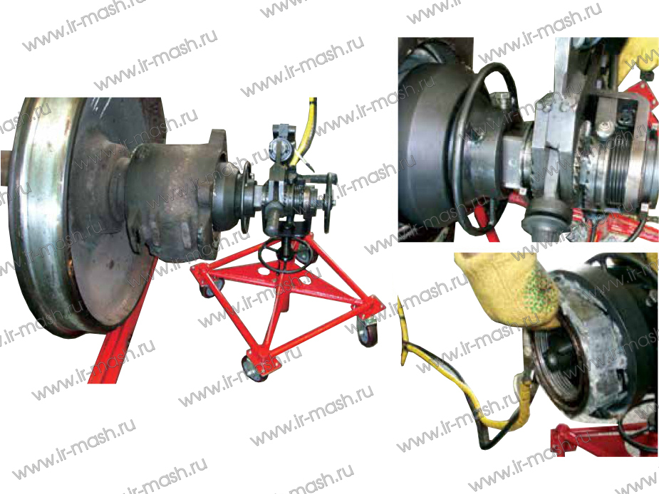 Установка для демонтажа буксовой гайки м110 колесных пар вагонов при выполнении ремонтных работ