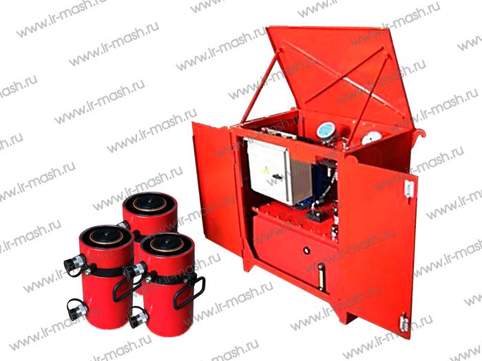 Гидравлическое оборудование для проведения полевых испытаний несущей способности свай и грунтов