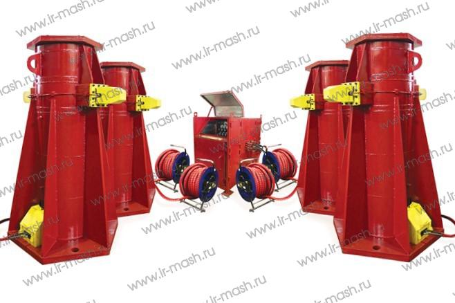 Комплекс гидравлический для подъёма поворотной платформы экскаватора КГПЭ4-100